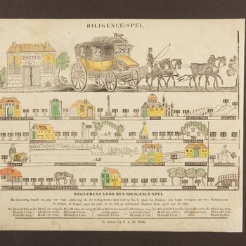 Bordspel 'Diligence-Spel', Arnhem, 1825–1873
