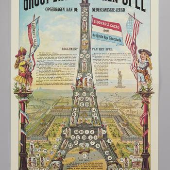 Bordspel 'Groot Eiffel Toren Spel', 1974