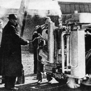 Winterswijk, 1940, gasgenerator van G.J. Nijhuis