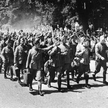 Aalten, 1940, aankomst teruggekeerde Nederlandse krijgsgevangenen
