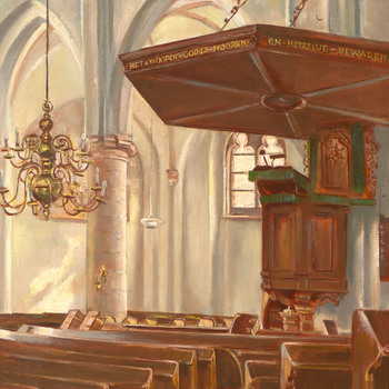Interieur N.H. of Oude Helenakerk in Aalten