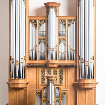 Orgelmodel van het Metzler-orgel in de Grote of Sint-Jacobskerk in Den Haag