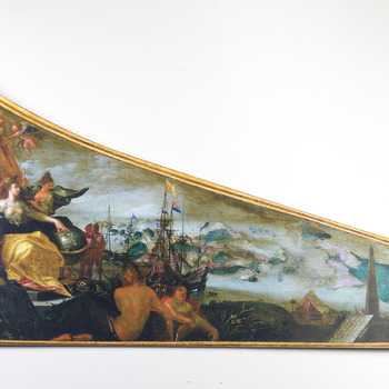 Reproductie van deksel van het stadsklavecimbel van Amsterdam
