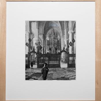 Foto voorstellende het voormalige Van Hagebeeer-orgel (1626/29) in de Grote of Sint-Jacobskerk in Den Haag