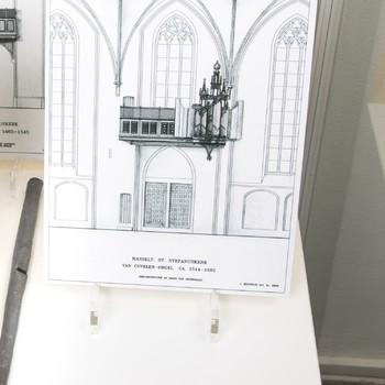 Foto voorstellende reconstructietekening van Covelenorgel St. Stefanuskerk Hasselt (1514-1582)