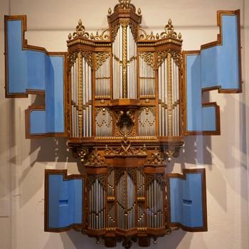 Orgelmodel van het Faber-orgel (1650/51) in de Jacobuskerk te Zeerijp