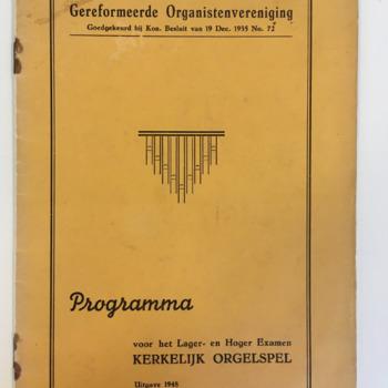 Kerkelijk orgelspel voor het Lager- en Hoger Examen