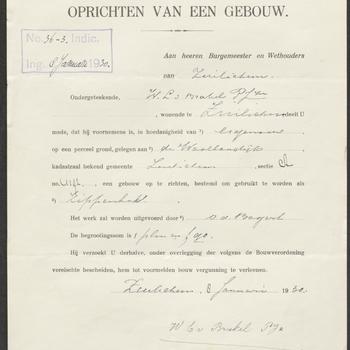 Zuilichem, Waaldijk 163; Bouw schuur, 10-01-1930