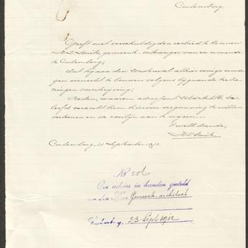 Culemborg, Molenwal 5; Culemborg, Molenwal 7; Culemborg, Molenwal 9; Culemborg, Molenwal 11; Culemborg, Molenwal 13; Culemborg, Molenwal 15; Bouw  6 arbeiderswoningen, 1912