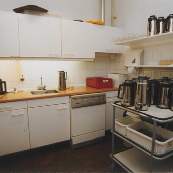 Keuken in het gemeentehuis, Herenstraat.