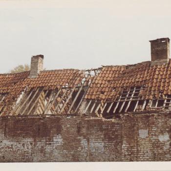 Zij-aanzicht van het Elisabeth Gasthuis. In 1534 gesticht door vrouwe Elisabeth van Culemborg.  Rond 1980 is het hofje gesloopt en vervangen door nieuwbouw.
