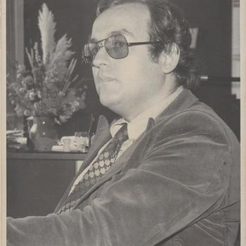 """Directeur schouwburg """"de Agnietenhof"""" dhr. P. Mulder"""