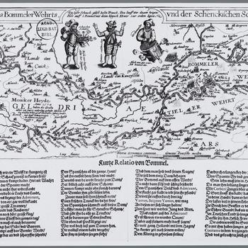 Gelegenheit des BommelerWehrts und der Schenkischen Scahnzen 1599, Kurze Relatio von Bommel : Nieuwsprent over de door prins Maurits van Oranje-Nassau afgeslagen aanval op Zaltbommel door Spaanse troepen onder leiding van Francisco de Mendoza