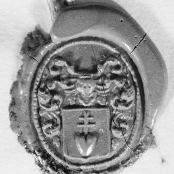 Zegel van: Tricht, van Jan van Tricht Oz. d.d. 19-2-1818 notaris te Zaltbommel