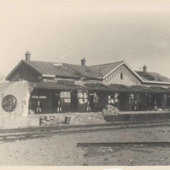 Het station na afloop van de oorlog