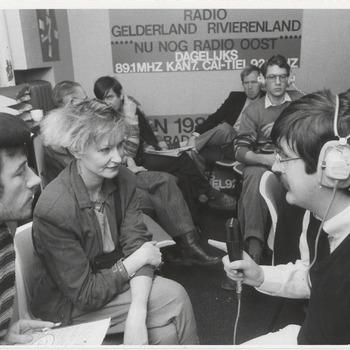 Eventueel opnamestudio Radio Gelderland Rivierenland, nu nog Radio Oost