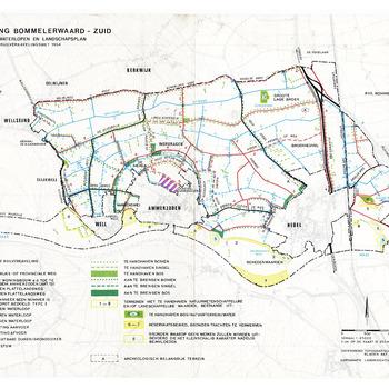 RUILVERKAVELING BOMMELERWAARD - ZUID : Plan van wegen en waterlopen en landschapsplan