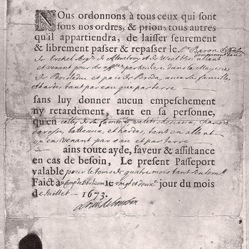 Brief uit huisarchief Ammersoyen, 1673
