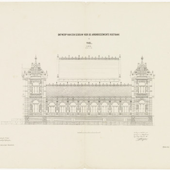 Ontwerp van een gebouw voor de arrondissements rechtbank