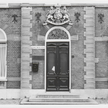 Het kantoor van de jamfabriek De Betuwe aan de Grotebrugse Grintweg, de ingang