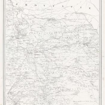 Topografische kaart van de Provincie Gelderland op last der Edel Groot Achtbare Heeren Staten van dat Gewest, vervaardigd door W. Kuyk, ingenieur verificateur van het kadaster: Zutphen, Hengelo, blad 7
