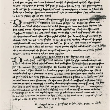 De 2de bladzijde van het Chronicon Tielense
