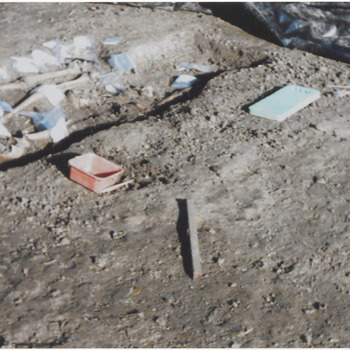 Opgraving grafveld, bij aanleg begraafplaats, Blatemsedijk.