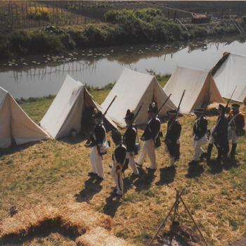 Tentenkamp langs de Korne.