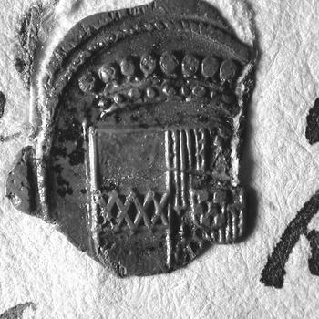 Zegel van: Onbekend zegel op een brief van 1672?
