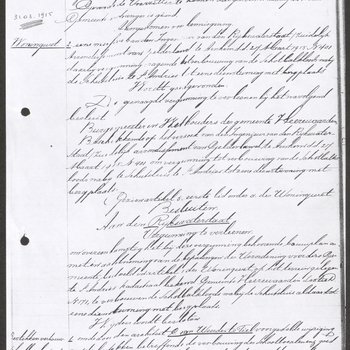 Heerewaarden, Sluis Sint Andries; Verbouw schotbalkloods bij sluis St. Andries tot dienstwoning met berging, 31-03-1915