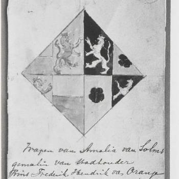 n.b. Foto van wapen van Amalia van Solms.