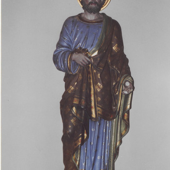Beeld H. Josef, neogotiek. H. Gregoriuskerk Buren.