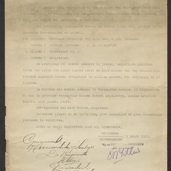 Heerewaarden, Steeg; Oprichten berging petroleum en benzine, 20-04-1923