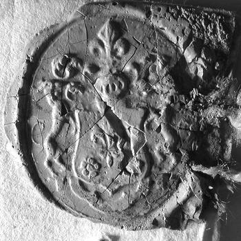 Zegel van: Augustinus Geukama d.d. 2 okt. 1781 schepen in de Hoge Bank van Driel