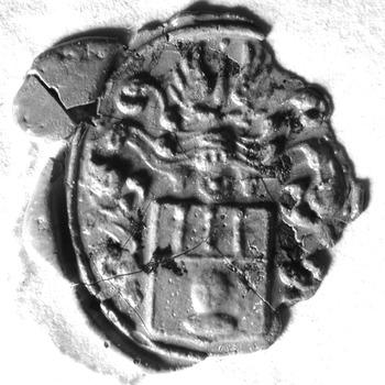 Zegel van: Godefridus Goris d.d. 18 dec. 1756 schepen in de Hoge Bank van Driel