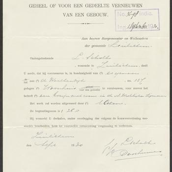 Zuilichem, Waaldijk 157; Verbouw woning, 01-09-1930