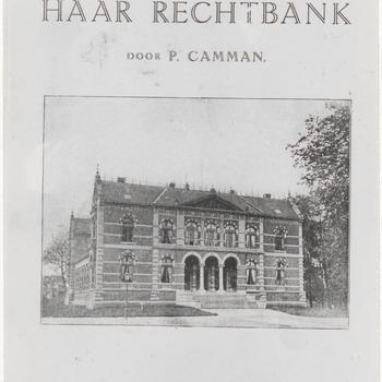 """Reproductie omslag boekje """"de stad Tiel en haar rechtbank"""" door P. Camman"""