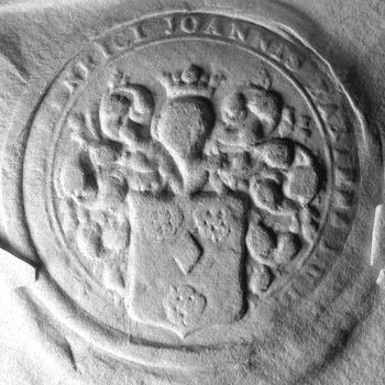 Zegel van: Eck, van O. van Eck d.d. 15-1-1772 secretaris (zegel op fragment van een acte)