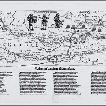 Refereijn van den Bommelaar : Nieuwsprent over de door prins Maurits van Oranje-Nassau afgeslagen aanval op Zaltbommel door Spaanse troepen onder leiding van Francisco de Mendoza