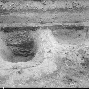 Sporen van Germaanse huizen buiten het Oppidum Batavorum