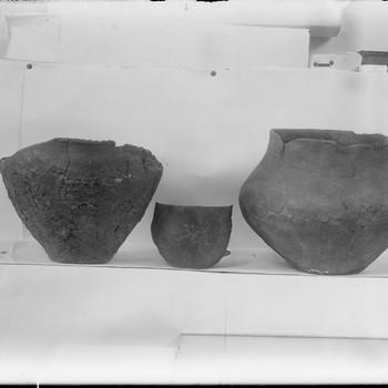 Urnen gevonden in het urnenveld