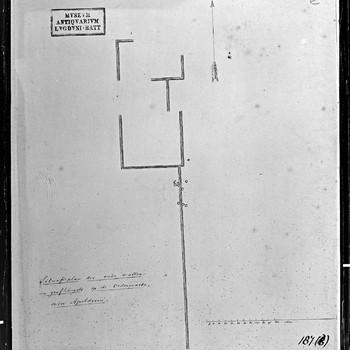 Situatieplan der oude wallen en grafheuvels op de Ordermarke, onder Apeldoorn