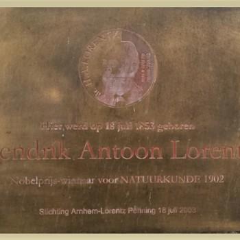 Plaquette geboortehuis Lorentz