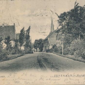 Ansichtkaart Kerkstraat te Zevenaar