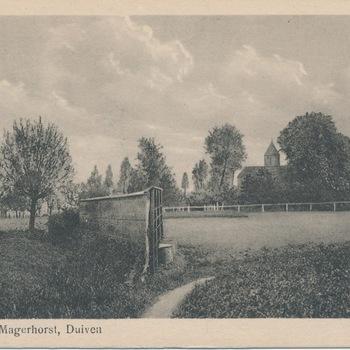 Ansichtkaart havezathe De Magerhorst te Duiven