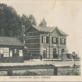 Ansichtkaart station te Zevenaar