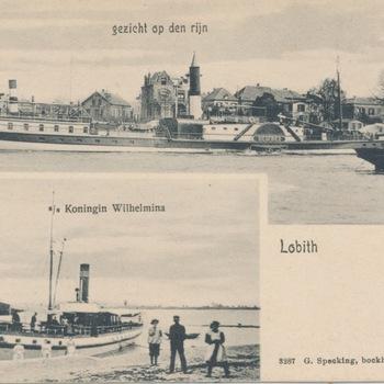 Ansichtkaart tweeluik Lobith-Tolkamer