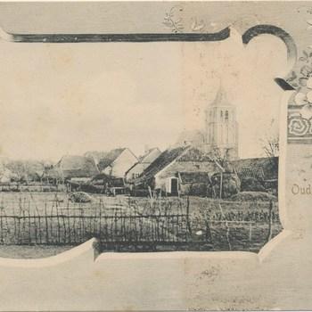 Ansichtkaart gezicht op Oud-Zevenaar