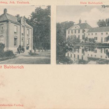 Ansichtkaart tweeluik groeten uit Babberich
