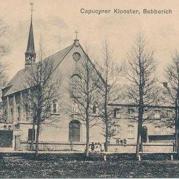 Ansichtkaart Capucijnen klooster en kerk te Babberich